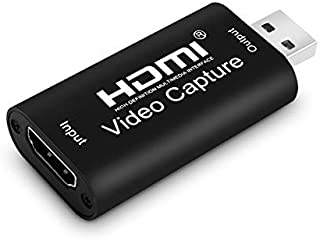 Ench HDMI Capture Card USB 2.0 Audio Video Capture Converter,1080P high-Definition Acquisition, widely Used in DIY Video S...