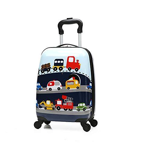 JBAG-one 18-Zoll-Kindergepäck mit 4 Spinner-Rädern, leichtem Hartschalenkoffer für Kinder, Trolley-ABS für Mädchen und Jungen,car