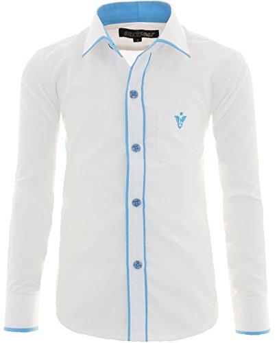 GILLSONZ - Camisa - Clásico - para niño Weiß 122 cm