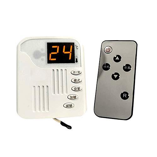Fesjoy Controlador de Temperatura Digital ZFX-01 Enchufe 220v Interruptor de termostato Ajustable de Temperatura con Control Remoto