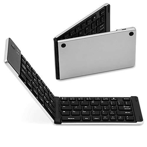 WANGOFUN Tastatur im Taschenformat, Drahtlose Klapptastatur Bluetooth-Tastatur für iOS Windows Android-Tablets Smartphones Laptops PC