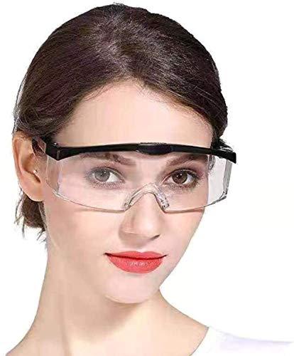 Schutzbrille, für Baustelle, Labor, Werkstatt und Fahrrad-Fahren, für den Unisex-Gebrauch, Leicht, klar und Wasserdicht, Blockieren Speicheltröpfchen