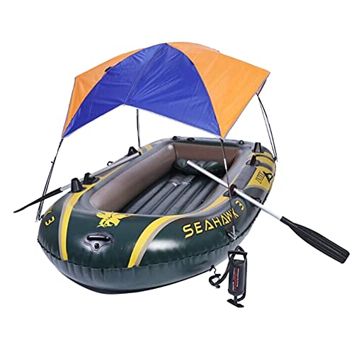 Foldable Awning for Intex Seahawk 3 Inflatable Boat Sun Shelter Fishing Tent (No...