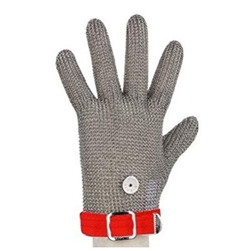 Schnittfeste Handschuhe-XHZ 1 Edelstahl Draht Schutzhandschuh, DREI Finger Und Fünf Finger, Importiert Stahl Draht Handschuhe, Anti-Cut Handschuhe (Size : Medium)