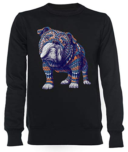 Engels Bulldog Unisex Mannen Dames Trui Zwart Unisex Men's Women's Jumper Black