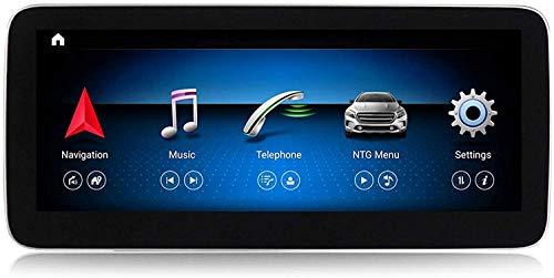 ZBHWYD Android 10 Car Radio GPS NAVEGE Unidad DE Cabeza para Mercedes Benz A Clase W176 2013-2018 Player Multimedia Estéreo Sat Nav Nav 12.5 Pulgadas Control de teléfono de Pantalla,10.25 Inch NTG4.5