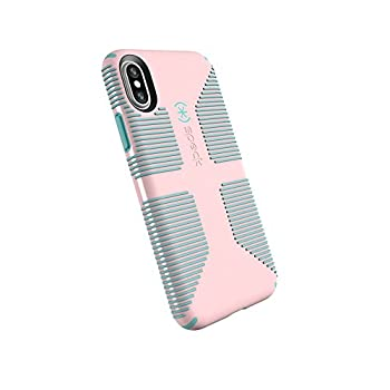 Speck Products CandyShell Grip Cell Phone Case for iPhone XS/iPhone X - Quartz Pink/River Blue