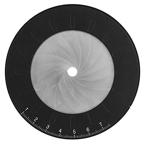 Alvinlite Círculo de Acero Inoxidable para Dibujo - Herramienta de Regla de Plantilla de círculo Redondo Medida Ajustable para Dibujo de Dibujo