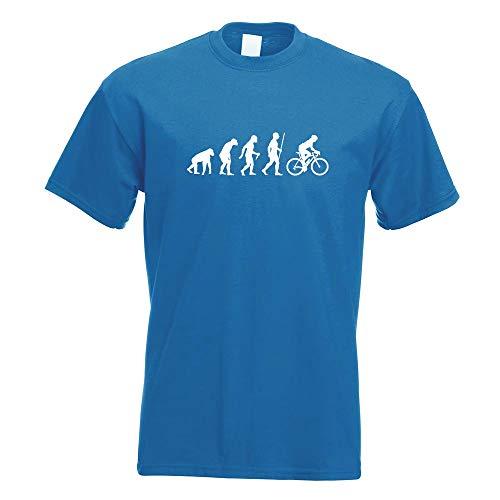 Rennrad Fahrrad Evolution T-Shirt Motiv Bedruckt Funshirt Design Print