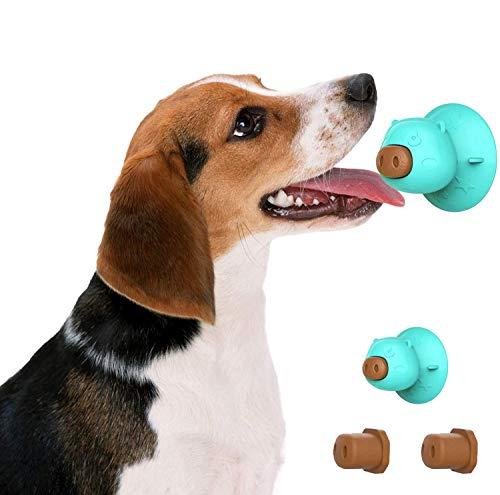 KTL Hunde-Leckmatten mit Saugnapf, Hundebad Leckmatte für Haustier-Bad Fellpflege-Training, 3 Leckerlis