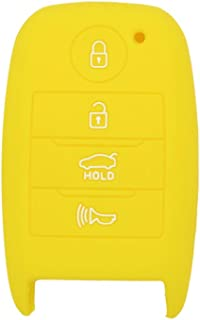 SEGADEN Silicone Cover Protector Case Skin Jacket fit for KIA 4 Button Smart Remote Key Fob CV4150 Yellow