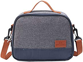 Insulated Lunch Bag, Thermal Cooler Lunch Tote Bag, Portable Lunchbox Reusable Food Bag for Women Men Kids Picnic, Travel, Hiking (B-8012) …