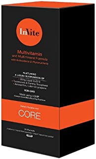 InVite® Health Core Multivitamin, Supports The Health of The Brain, Eyes, and Circulatory System, 30 Packets (Pack of 1)