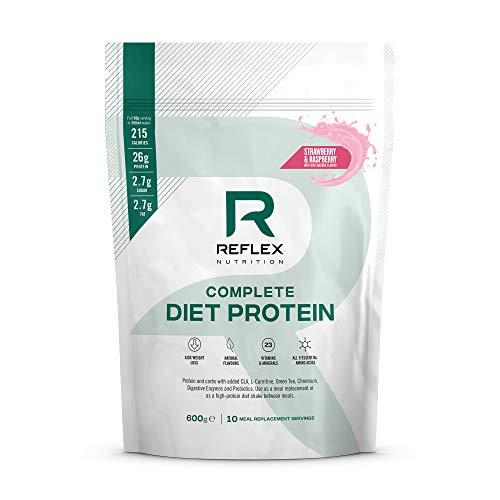 Reflex Nutrition Diet Shake | Diet Meal Replacement Shake | 108 Calories | Diet Protein Powder (Strawberry & Raspberry) (600g)