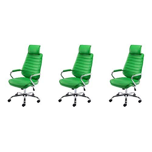 Lüllmann Rako - Lote de 3 sillas de oficina giratorias, color verde