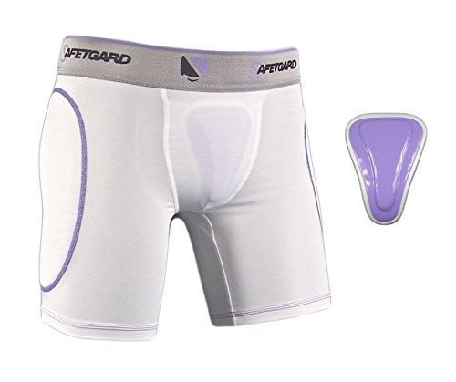 SafeTGard Lady Elite Sliding Shorts with Pelvic Protector (Large/X-Large)