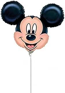 Broward Balloons Disney Mickey Mouse Head Mini Shape 14 Inch Balloons (Qty 5)