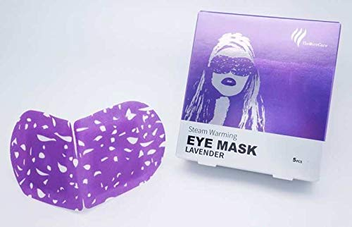TheMoreCare Lavender Eye Masks for Dark Circles and Puffiness Disposable Soothing Headache Relief Dry Eyes, Stress Relief Relief Eye Fatigue (Steam Eye Mask- 5Pcs)