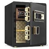安全-指紋パスワードセーフ、合金鋼材、複数のアラーム、広いスペース、指紋認識、穴あけ防止ドア/B / 45CM