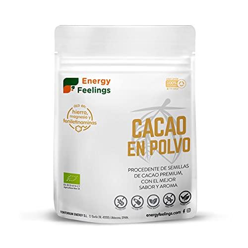 Energy Feelings Cacao Puro Premium Ecológico en Polvo - 200 gr