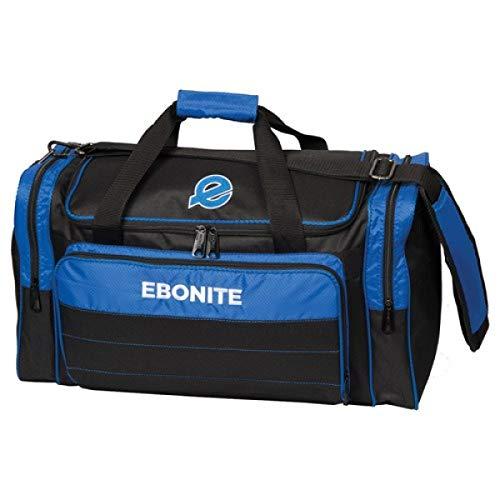 EMAX Bowling Service GmbH MAXIMIZE YOUR GAME Ebonite Conquest - Double Tote - Multi - Schuhfach, Bowlingtasche für Zwei Bowlingbälle und Bowlingschuhe Farbe ROYAL BLAU