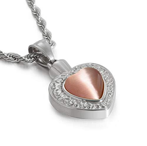 Beydodo Edelstahl Kette mit Anhänger Herz mit Zirkonia Halskette Damen Silber Freundschaftskette