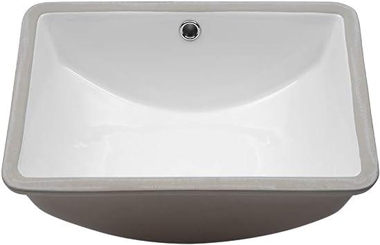 Undermount Bathroom Sink Lordear 18 25 Bathroom Sink Rectangle Deep Bowl Pure White Porcelain Ceramic Lavatory Vanity Sink Basin With Overflow Amazon Com