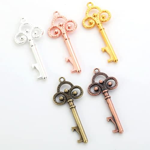 5 Cavatappi a forma di chiave di Pizea, chiave apribottiglie, portachiavi a forma di chiave, apribottiglie creativo e artistico, apribottiglie manuale retrò piccolo, regalo cavatappi