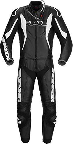 Spidi Sport Warrior Touring 2-Teiler Motorrad Lederkombi Schwarz/Weiß 60