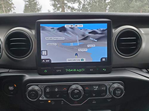 Insane Audio 2018-2020 Jeep Wrangler Jl/Gladiator Perfect Factory Fit Multimedia Bluetooth Waterproof in-Dash Car Stereo Head Unit with On/Off Road Navigation and 9-inch Hi-Def Touch Display (JL3001)