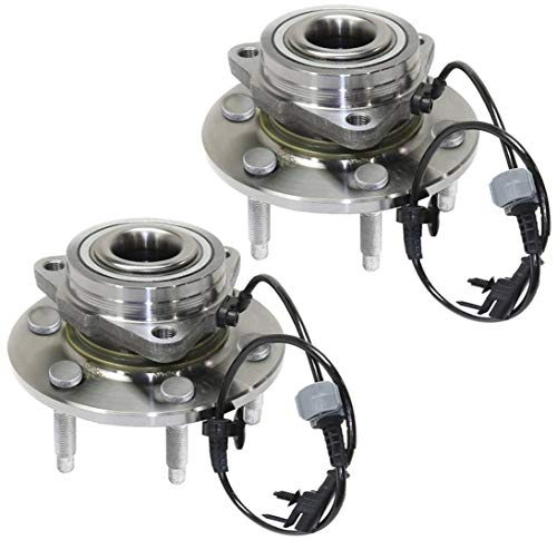 Bodeman - Pair 2 Front Wheel Hub & Bearing Assembly for 2007-2013 Chevy GMC Silverado 1500, Sierra 1500, Tahoe, Yukon, Cadillac Escalade - All 4x4 4WD Vehicles Only
