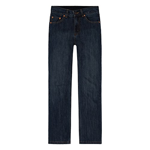 Levi_s Boys 8-20 550 Relaxed Fit Jean Husky, Dark Crosshatch, 14 Husky