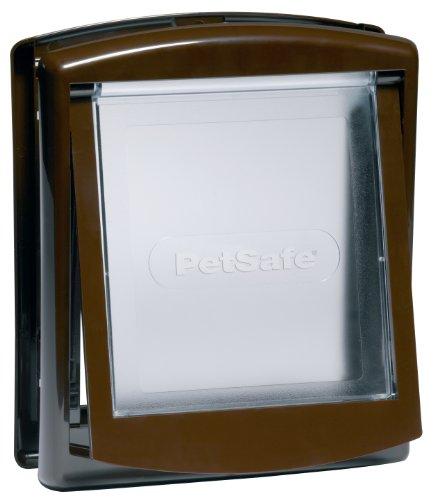 PetSafe Staywell - Porta per Animali Domestici a 2 Vie, Installazione Rapida, Facile da Montare, Chiusura a 2 Vie, per Tutti Gli Animali Domestici, Taglia M, Marrone