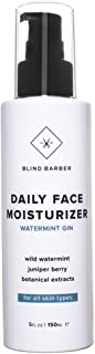 Blind Barber Watermint Gin Daily Face Moisturizer - Face Cream & Aftershave Lotion for Men, All Skin Types (5oz / 150ml)