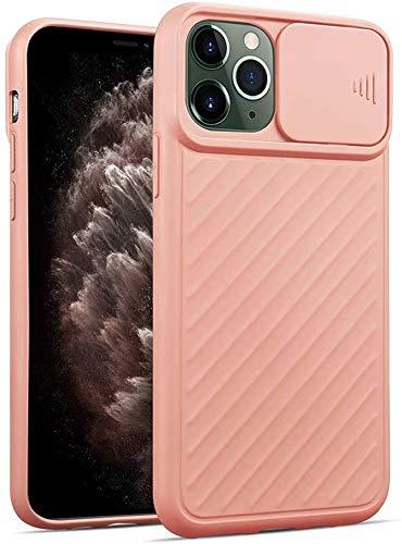 Suhctup Funda protectora para iPhone XR, antigolpes, antideslizante, elegante, cobertura de cámara deslizante [protección de cámara] silicona fina protección – Rosa
