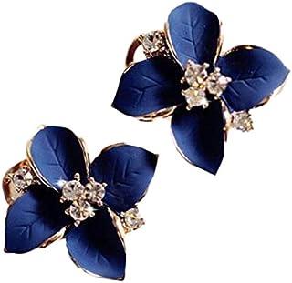 1bb19d8f5 Shining Diva Fashion Enamel Blue Flower Fancy Party Wear Tops Stud Earrings  for Women and Girls