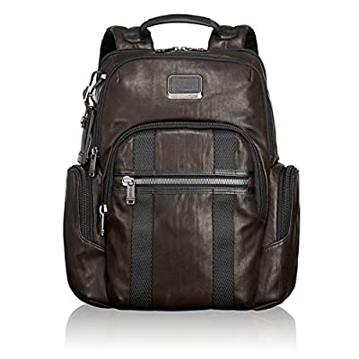 TUMI - Alpha Bravo Nellis Leather Laptop Backpack - 15 Inch Computer Bag for Men and Women - Dark Brown