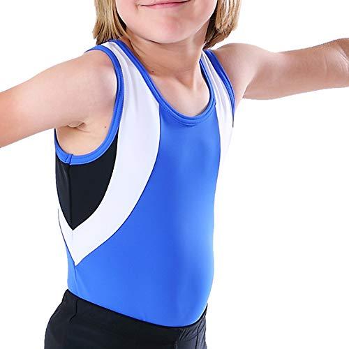 NEW DANCE Gymnastikanzug für Jungen und Kleinkinder, Ballett, Tanz, Training, Sportübung, Wettkampf, Training - Blau - 130/142 cm (9-10 Jahre) (L: 27.66/32.65 kg)