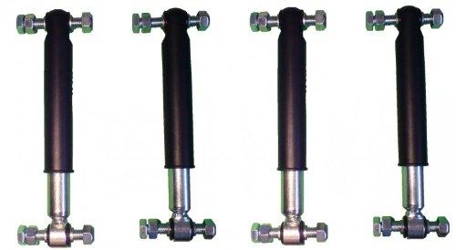 4 Stück Knott Achsstoßdämpfer 600 bis 1800 kg -Knott Nr. 990001 + Schraubensatz