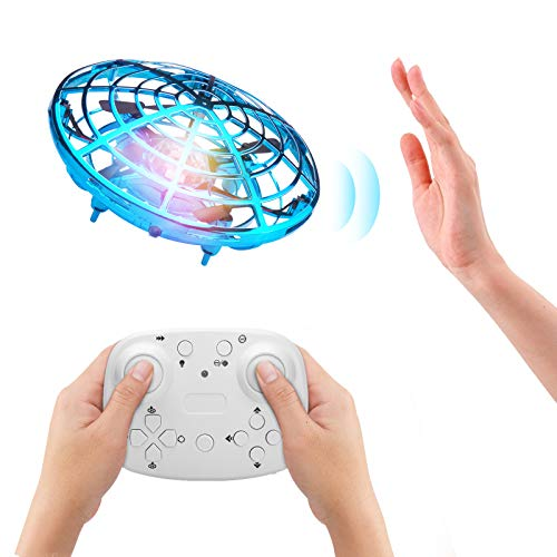 Beedove Mini Drone UFO para Niños y Adultos, Carga USB Mini Drone Manual Juguetes con Giratorias y Brillantes de 360 °de Luces LED Sensor de Infrarrojosy para Principiante y niños