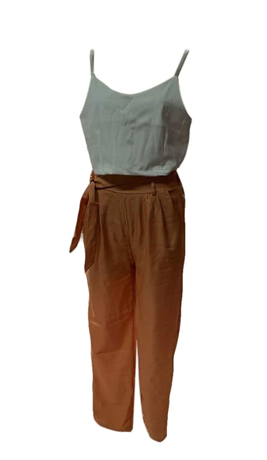 細心の共和党首尾一貫したWomen 2 Pieces Spaghetti Strap Top and Bodycon Long Pant with Belt Outfit