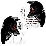 Sudaderas con Capucha Estampadas de Lobo para Hombre Sudaderas con Capucha 3D Sudaderas Chaquetas Pullover Chándales de Moda Abrigo de Calle con Animales Sweatshirt 2XL