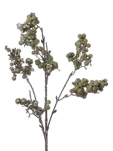 PARC Network - Kunstzweig Schneebeere, grün, 50cm - Kunststoff Beerenzweig - Künstlicher Schneebeeren Zweig - Deko Zweig Schneebeeren - Kunstpflanze