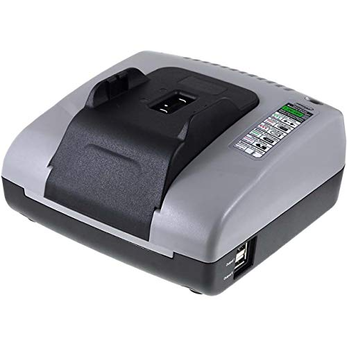 Powery Cargador de batería Compatible para Ryobi 140503001