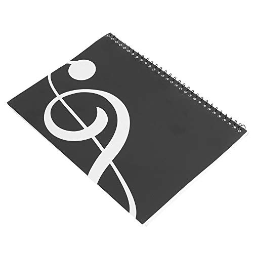 Stave Notebook, 50 páginas, Personal de notación Musical, Cuaderno de música, manuscrito, Papel de Escribir(Nota Negra)