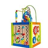 Peng Sounder-toy Actividad Juguetes del Cubo Puzzle Rebordeó Juguetes De Madera For Bebés Educación Temprana Hexaedro Juguetes Educativos En El Fondo De La Rueda De La Correa para los niños pequeños