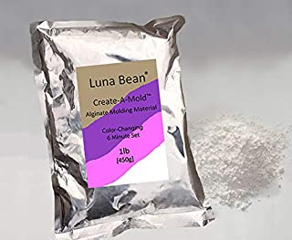 Luna Bean Create-A-Mold Craft Alginate Molding Powder for Life Casting (1 lb)