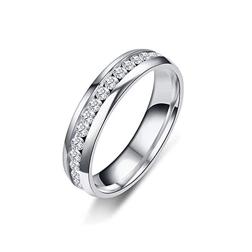 CNSP New Gold Colour 316L Stainless Steel Ring Titanium Steel Engagement Wedding Rings For Women Men Jewelry Anillos Sa924 Silver 6
