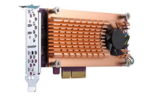 QNAP QM2-2S-220A Tarjeta y Adaptador de Interfaz M.2 Interno - Accesorio (PCIe, M.2, PCIe 2.0, Oro, M.2 22110/2280)