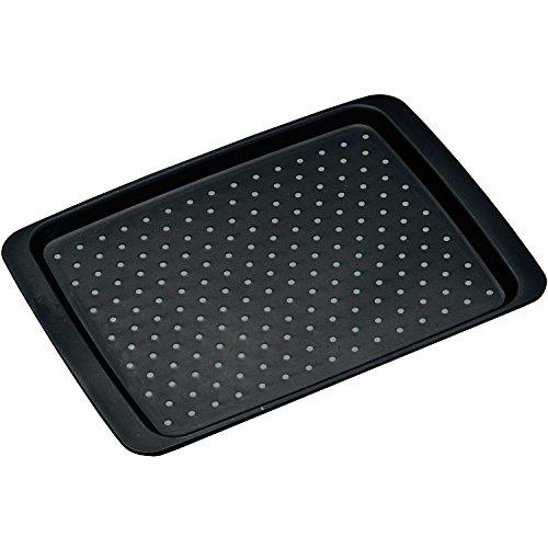 Kesper Serviertablett Anti-rutsch in schwarz, Kunststoff, 35 x 26 x 2 cm